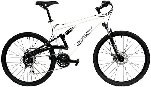 2017 Gravity FSX 1.0 Dual Full Suspension Mountain Bike with Disc Brakes